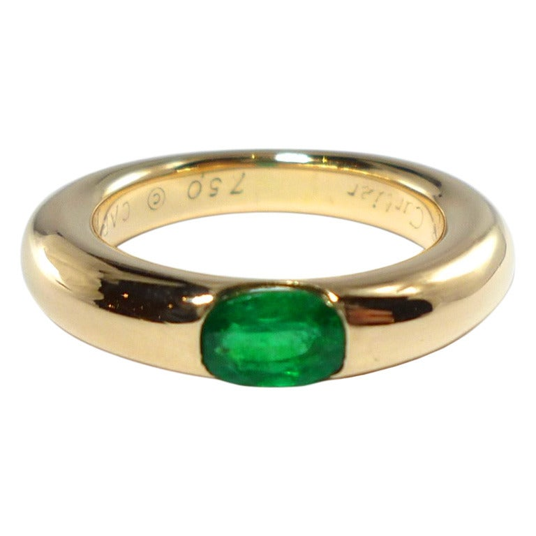 Cartier Ellipse Emerald Ring At 1stdibs