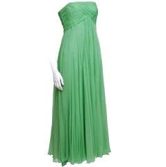 Malcolm Starr Silk Chiffon Gown