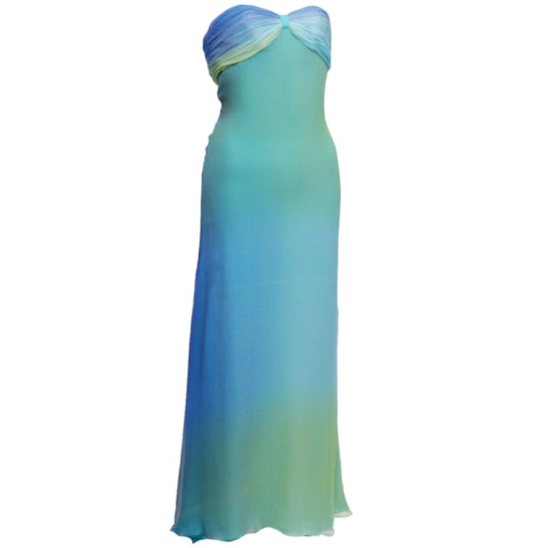 Halston Ombre Gown 1