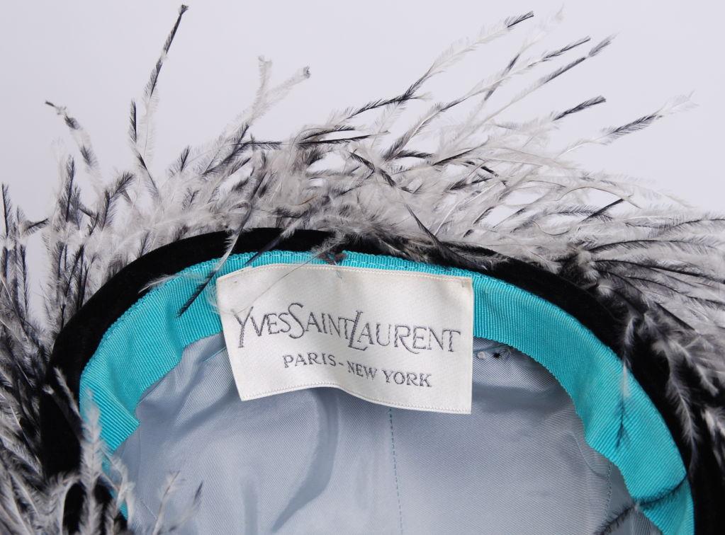 Yves Saint Laurent Feather Hat 2