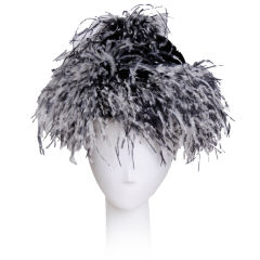 Yves Saint Laurent Feather Hat