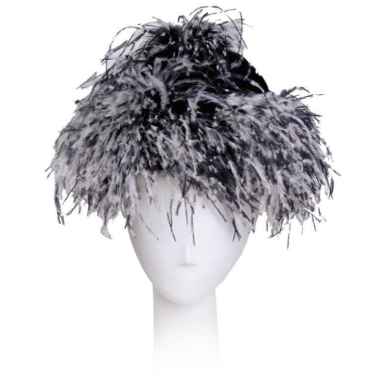 Yves Saint Laurent Feather Hat 1