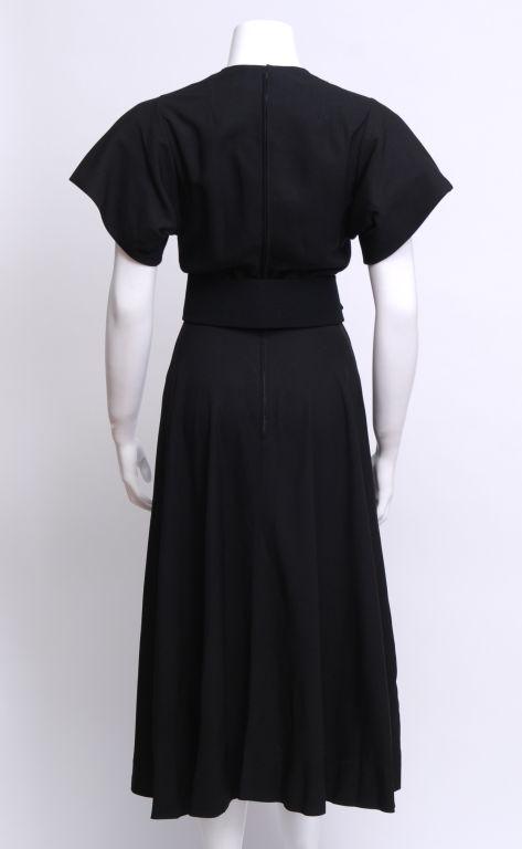 Norman Norell Black Silk Dress 2