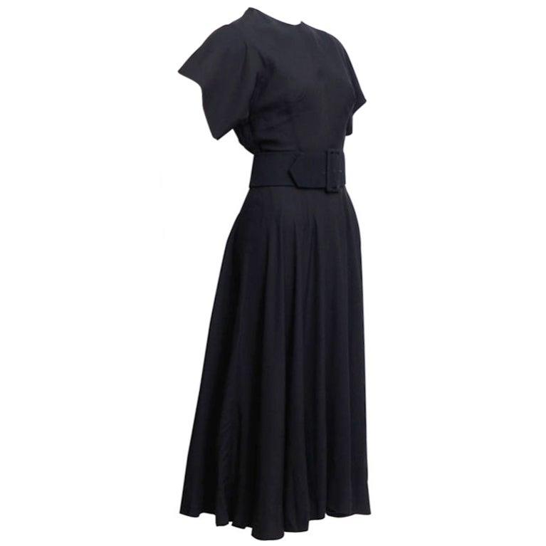 Norman Norell Black Silk Dress 1