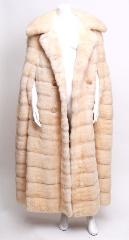 June Carter-Cash Buttercream Mink Cape 2