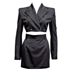 1990s John Richmond Cropped Skirt Suit