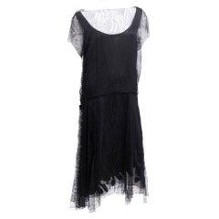 Handmade Silk Lace Art Nouveau Dress