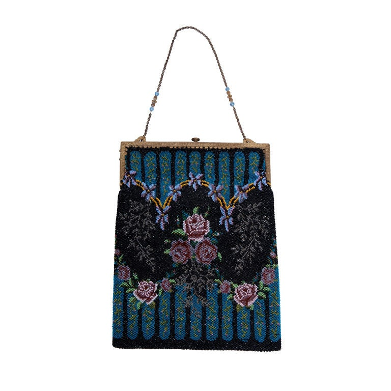 antique beaded purse for sale at 1stdibs