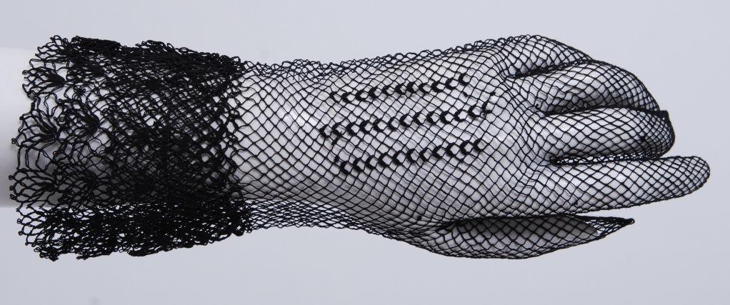Victorian Black Lace Gloves Worn By Dakota Fanning in W Magazine 2
