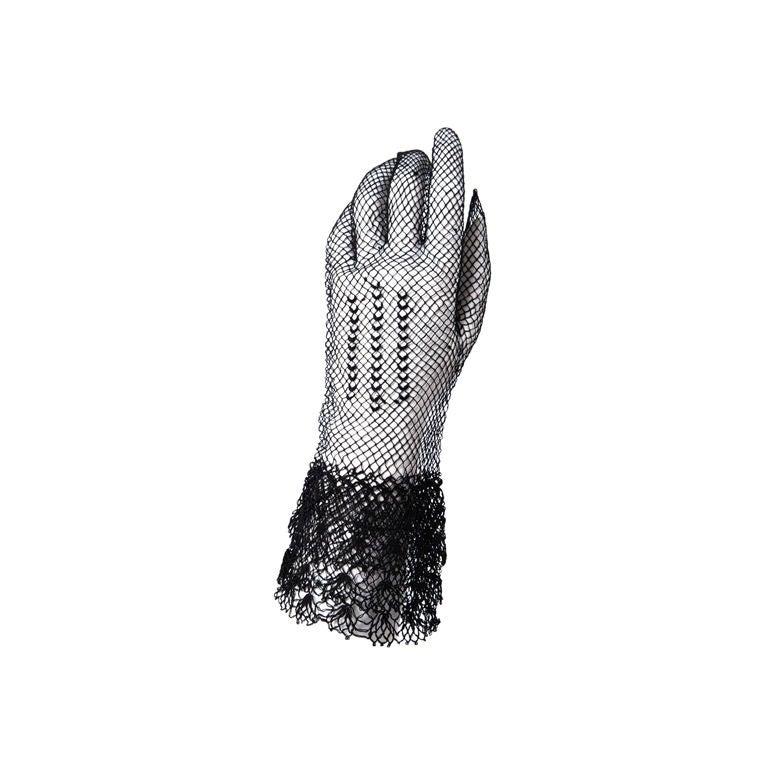 Victorian Black Lace Gloves Worn By Dakota Fanning in W Magazine 1