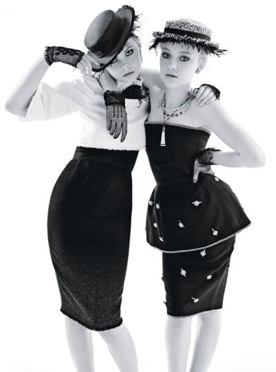 Victorian Black Lace Gloves Worn By Dakota Fanning in W Magazine 4