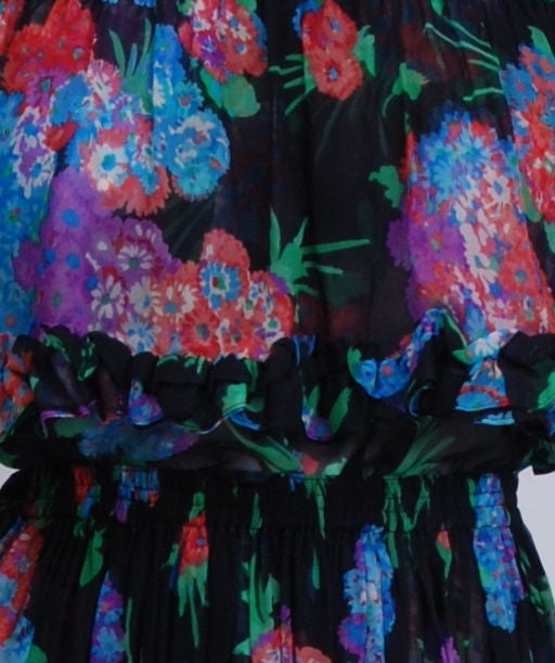 YSL Silk Chiffon Floral Blouse and Skirt image 5