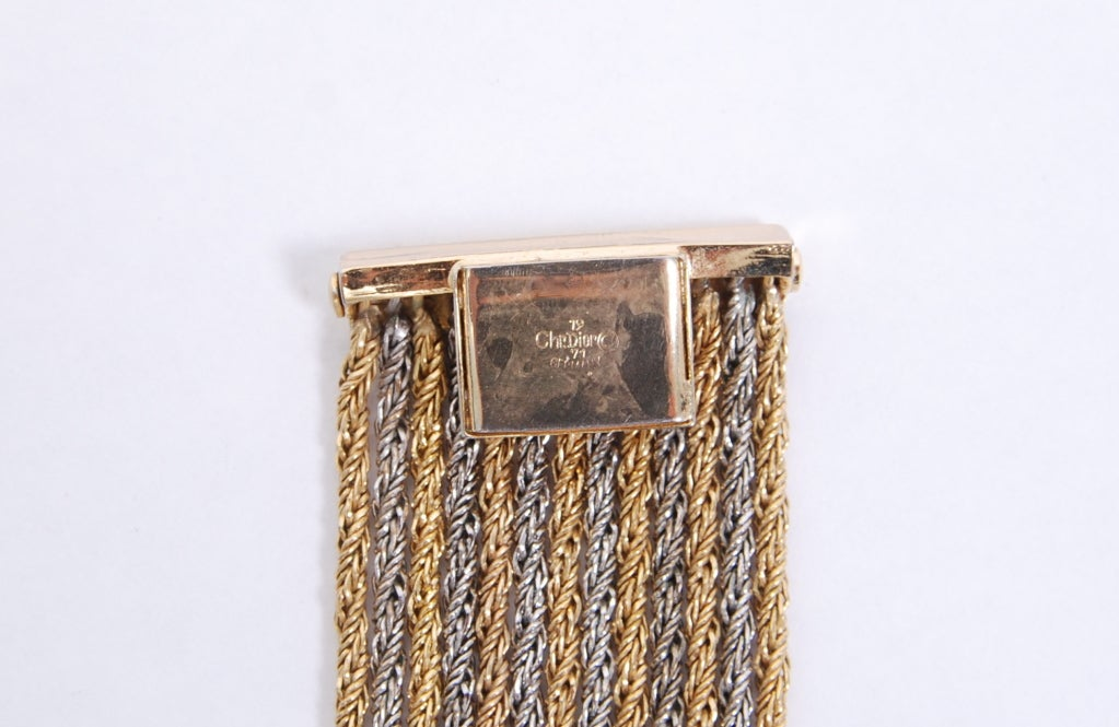 Christian Dior Gold and Silver Rope Bib Chain image 5