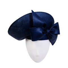 Jack McConnell Navy Straw Sculpted Hat