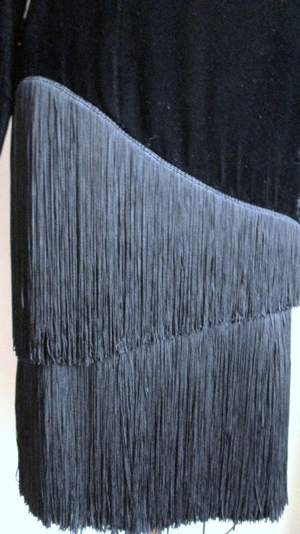 1980S Lanvin Fringe Dress In Excellent Condition For Sale In New York, NY