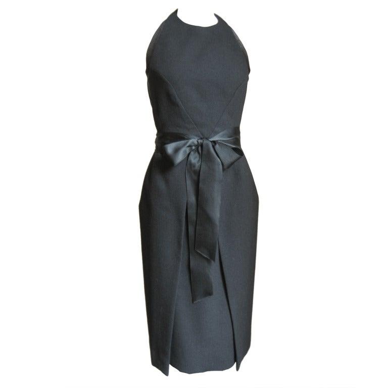 1970's Halston Wrap Halter dress