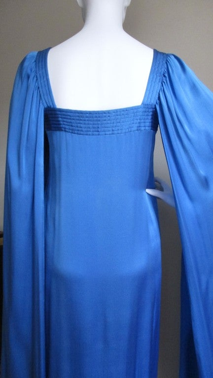1970's Christian Dior Couture Numbered Dress For Sale 2