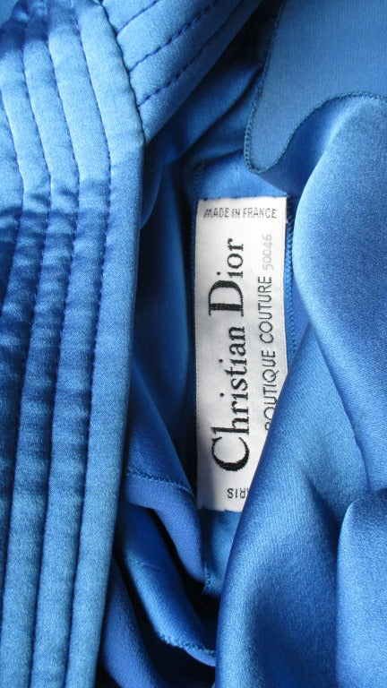 1970's Christian Dior Couture Numbered Dress For Sale 5