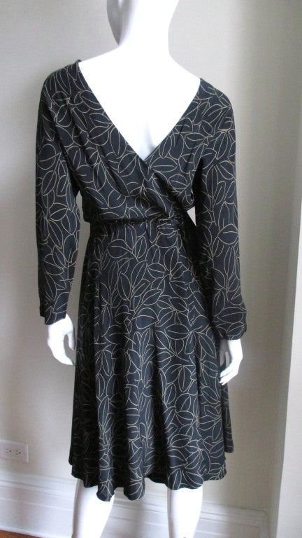 Halston Silk Wrap Dress 1970s In Good Condition For Sale In New York, NY