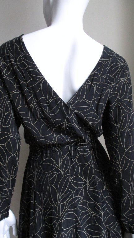 Women's Halston Silk Wrap Dress 1970s For Sale