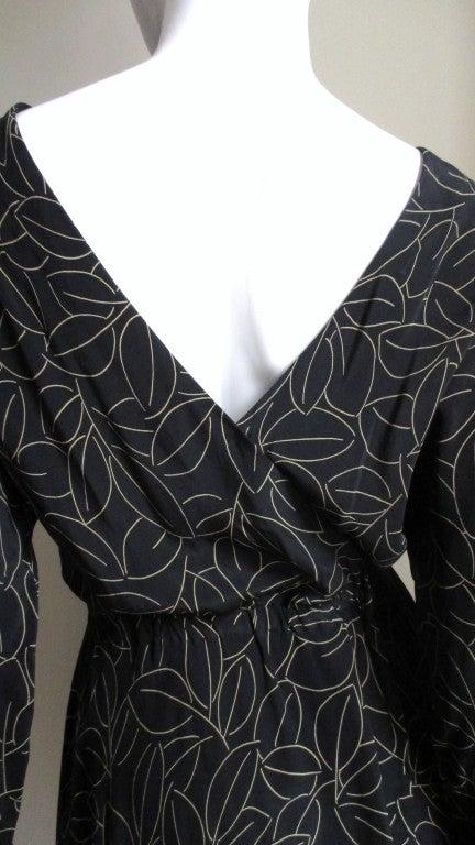 Halston Silk Wrap Dress 1970s For Sale 1