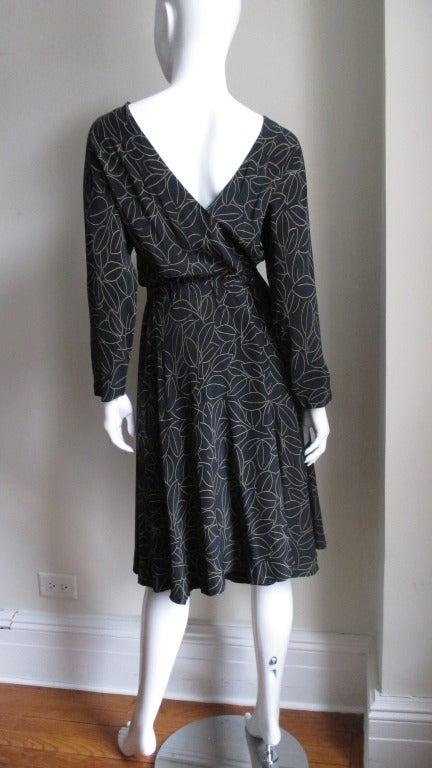 Halston Silk Wrap Dress 1970s For Sale 2