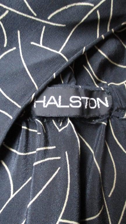 Halston Silk Wrap Dress 1970s For Sale 3