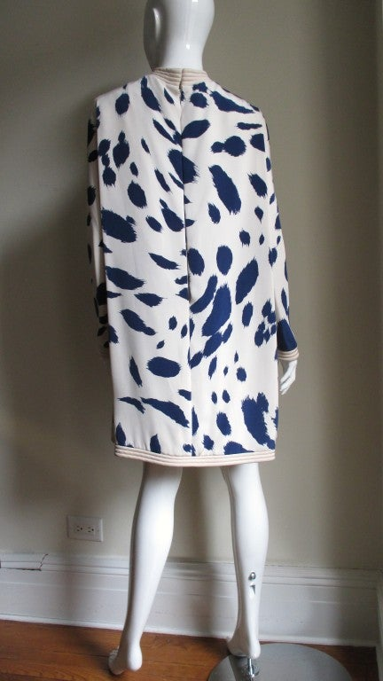 1960's Pierre Cardin Couture Silk Dress With Cape 3