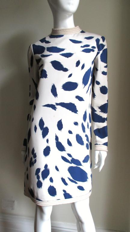 1960's Pierre Cardin Couture Silk Dress With Cape 4