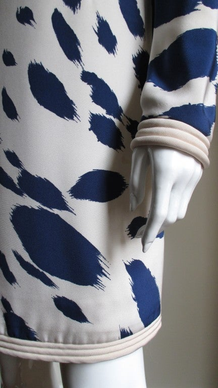 1960's Pierre Cardin Couture Silk Dress With Cape 6