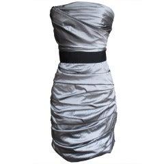 Dolce & Gabbana Silk Taffeta Bustier Dress