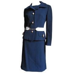 1960's Originala Mod Dress & Jacket w Leopard Buttons