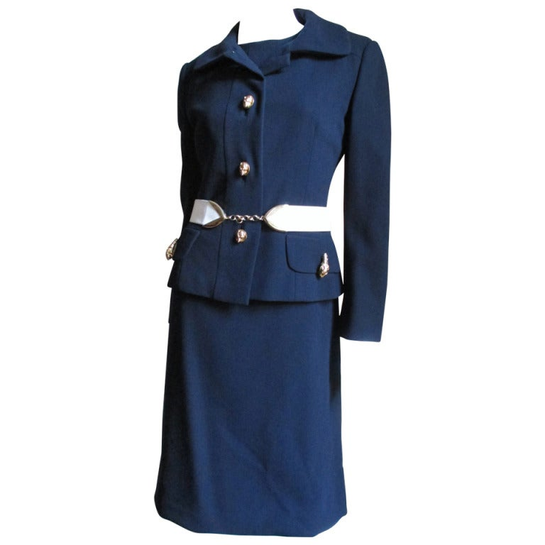 1960's Originala Mod Dress & Jacket w Leopard Buttons