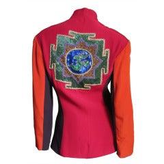 Vintage Ozbek Color Block Beaded Jacket
