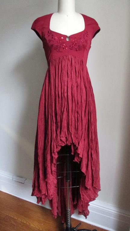 Vintage Ozbek High Low Maxi Dress 6