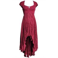 1990s Ozbek High Low Dress