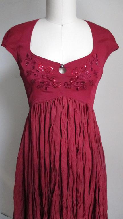 Vintage Ozbek High Low Maxi Dress 2