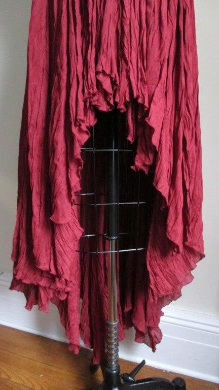 Vintage Ozbek High Low Maxi Dress 5