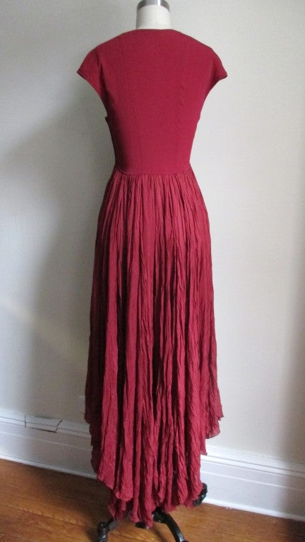 Vintage Ozbek High Low Maxi Dress 9
