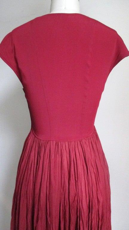 Vintage Ozbek High Low Maxi Dress 7