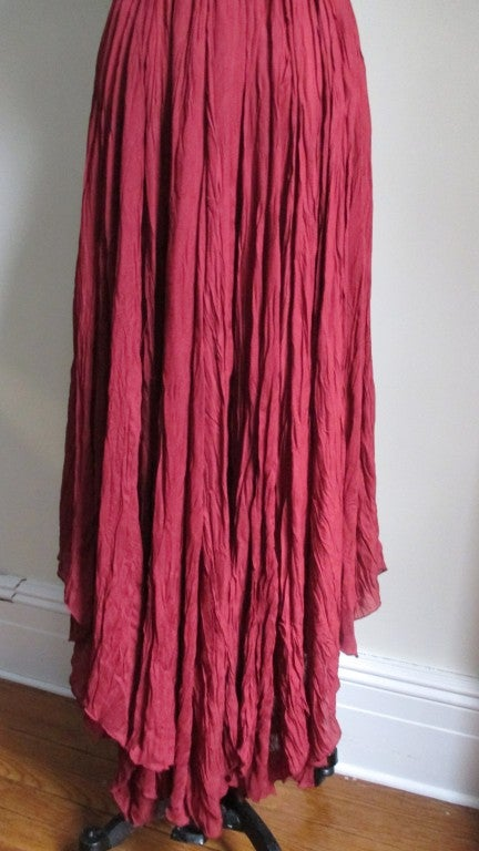 Vintage Ozbek High Low Maxi Dress 8