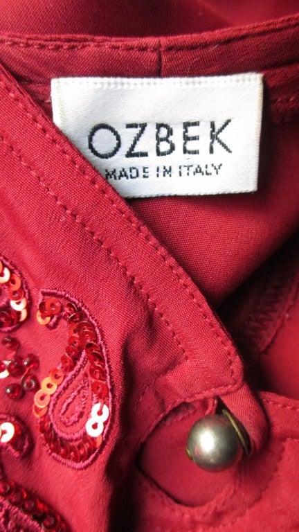 Vintage Ozbek High Low Maxi Dress 10