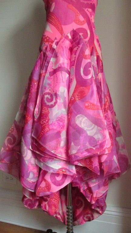 1960's Pierre Cardin Couture Hem W Scarves Maxi 3