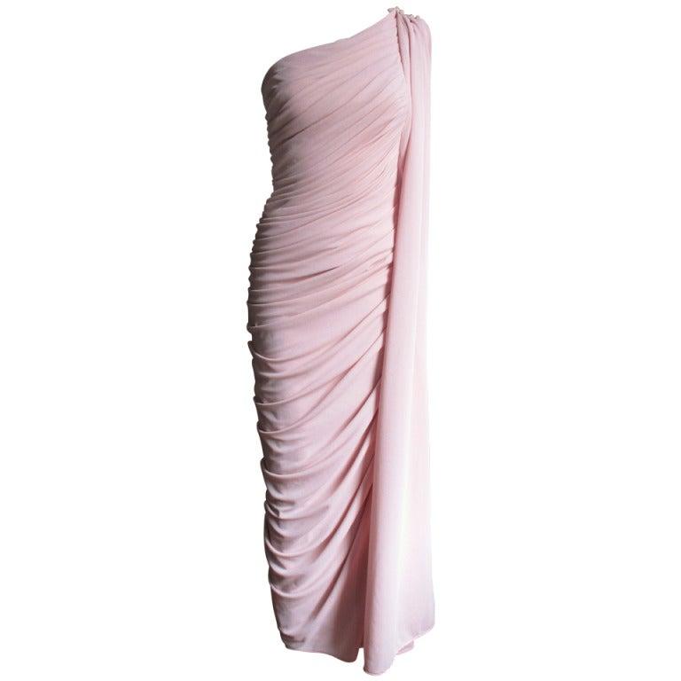 Estevez Vintage Glamour One Shoulder Gown 1