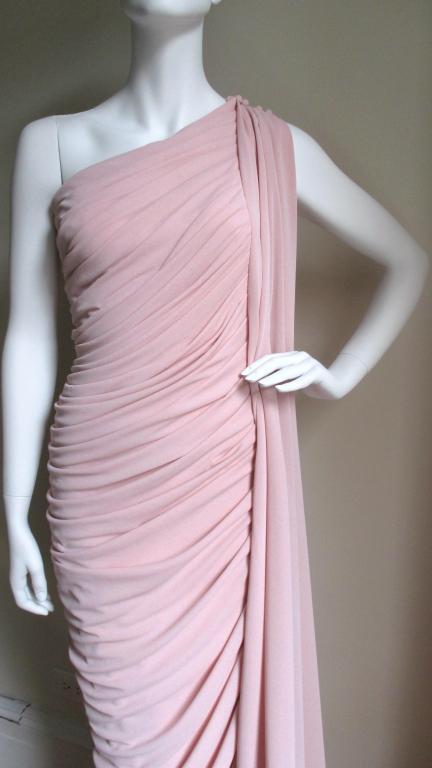 Estevez Vintage Glamour One Shoulder Gown 2