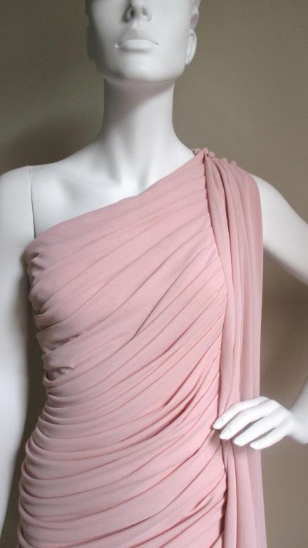 Estevez Vintage Glamour One Shoulder Gown 3