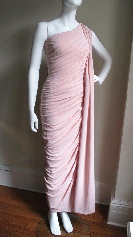 Estevez Vintage Glamour One Shoulder Gown 5