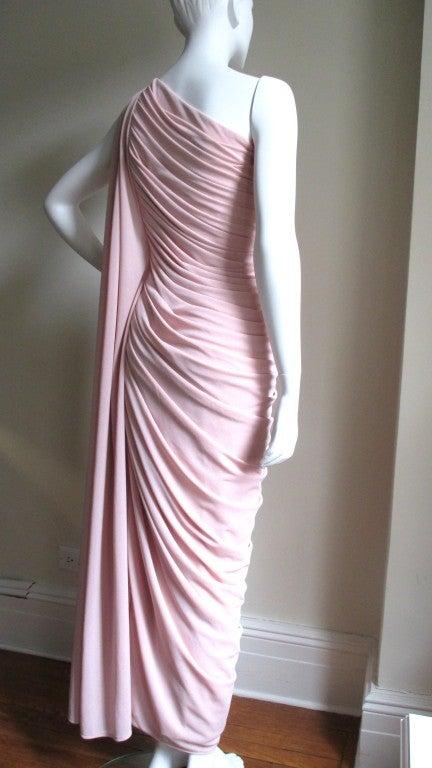 Estevez Vintage Glamour One Shoulder Gown 6