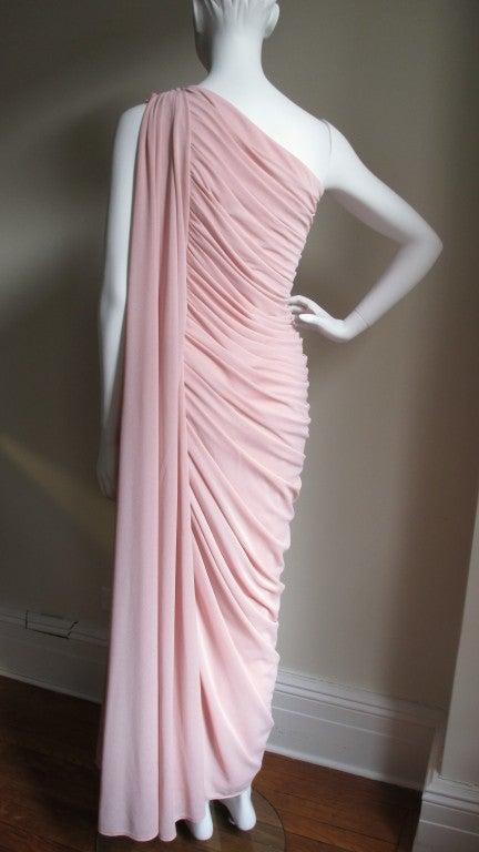 Estevez Vintage Glamour One Shoulder Gown 7