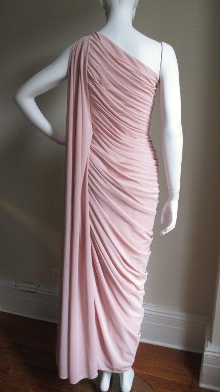 Estevez Vintage Glamour One Shoulder Gown 8